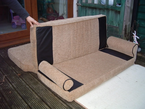 Cama en kombi vw for Colchon para sofa cama plegable